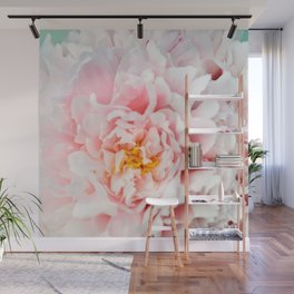 Peony Flower Photography, Pink Peony Floral Art Print Nursery Decor A happy life - Peonies 2 Wall Mural