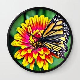 Monarch Butterfly Macro Wall Clock