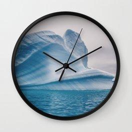 Visions of Blue IV Wall Clock