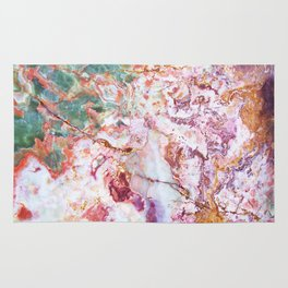 Multicolor geode amethyst slice Rug
