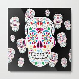 I love Candy Skulls Metal Print