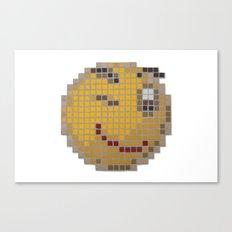 Emoticon Wink Canvas Print