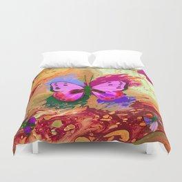 Butterflies in Flight - Rainbow Butterfly Duvet Cover