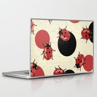 polka Laptop & iPad Skins featuring Ladybird Polka by Paula Belle Flores