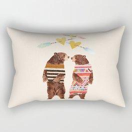 Dancing Bear Couple in Love Rectangular Pillow