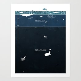 Deep Sea Layers Art Print