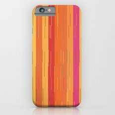 Orange and Yellow Stripes and Lines Abstract iPhone 6s Slim Case
