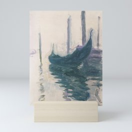 Claude Monet, Gondola in Venice 1908 Mini Art Print