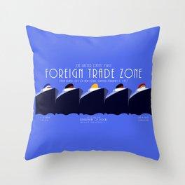Foreign Trade Zone Staten Island Throw Pillow
