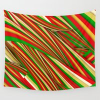 xmas Wall Tapestries featuring Lov Xmas by Danny Ivan