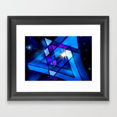 Raumgeometrie. Framed Art Print