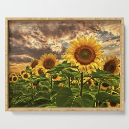 Sunflowers at Sunset Serving Tray