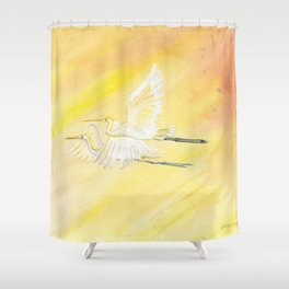 Great Egrets Shower Curtain