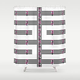Licorice Bytes, No.15 in Black and Pink Shower Curtain