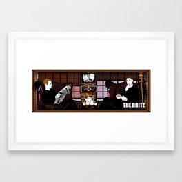 Broadsheet Britz Framed Art Print