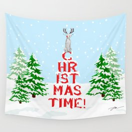 CHRISTMAS TIME WEIMARANER Wall Tapestry