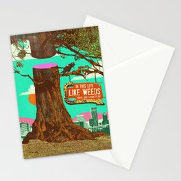 LIFE LIKE WEEDS Stationery Cards