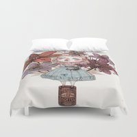 coffe Duvet Covers featuring Coffe time by flaviasorr
