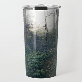 Foggy Forest Path Travel Mug
