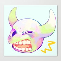teeth Canvas Prints featuring teeth by Ginseng&Honey