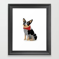 Custom Aussie Dog Framed Art Print