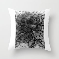 Spinning Roses Throw Pillow