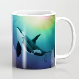 """The Dreamer Ascends"" by artist Amber Marine ~ (Copyright 2015) ~ Orca / Killer Whale Art Coffee Mug"