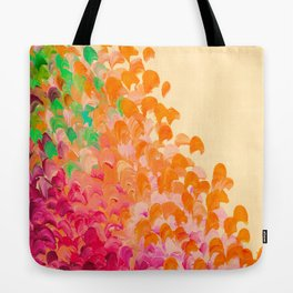 CREATION IN COLOR Autumn Infusion - Colorful Abstract Acrylic Painting Fall Splash Ombre Ocean Waves Tote Bag