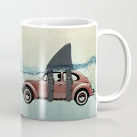 vw Mugs featuring VW soup by Vin Zzep