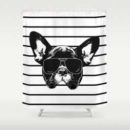 pug life Shower Curtain