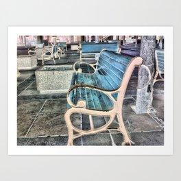 Amity Bench Art Print