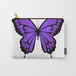 Vibrant Purple Butterfly T-Shirt Carry-All Pouch