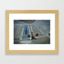 Flap fail landing Framed Art Print