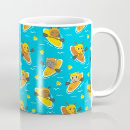 Cats and Dogs in Canoes Coffee Mug