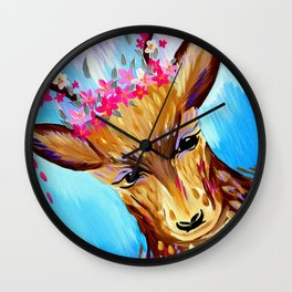 Free Spirited Stag Wall Clock