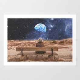 PLANET EARTH, THE UNIVERSE AND I Art Print