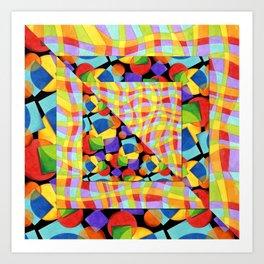 Candy Rainbow Medley Art Print
