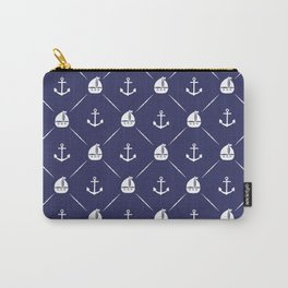 Retro Nautical Print Carry-All Pouch