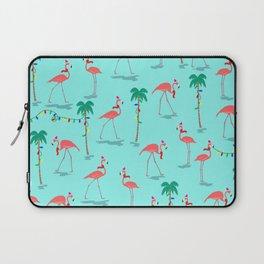 Christmas Flamingo Pattern Laptop Sleeve