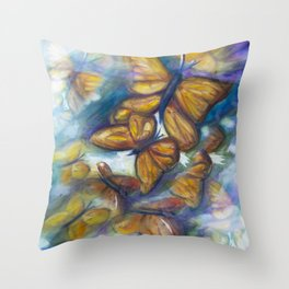 Shaded Wings Throw Pillow