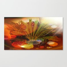 Tropical plants and flowers Canvas Print