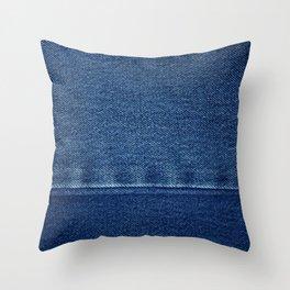 Blue Jean Texture V4 Throw Pillow