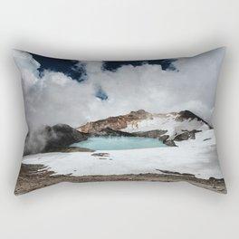 New Zealand Mount Ruapehu Volcano Rectangular Pillow