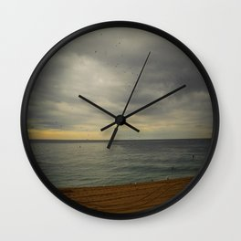 Barcelona beach Wall Clock