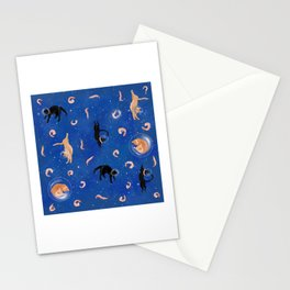 Astronaut Cats in Shrimp Heaven Stationery Cards