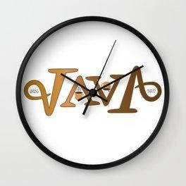 """JAVA"" Wall Clock"