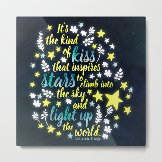 Shatter Me - Stars quote design Metal Print