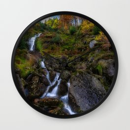 Waterfall in Ireland (RR 253) Wall Clock