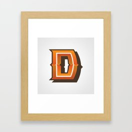 The Letter D Framed Art Print