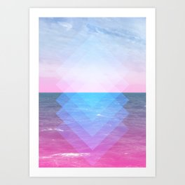 Sea Diamonds Art Print